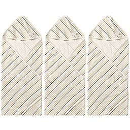 WithOrganic BabySt 3Pack Organic Cotton Swaddle blanket, Baby nursery-receiving