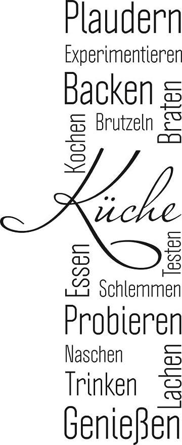 GRAZDesign 620552_30_070 Wandtattoo Küche Plaudern Backen Genießen -Banner  | Wand-Worte für Esszimmer Restaurant und Küchen-Rückwände | Wand-Deko ...