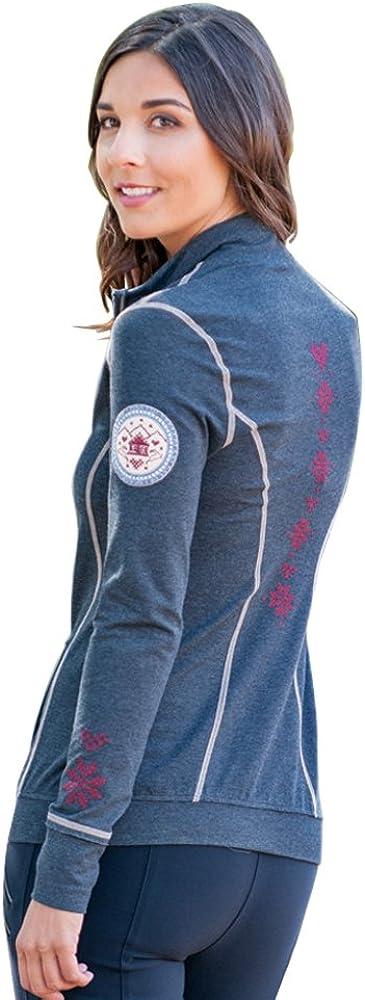 Alp-n-Rock Womens Cross Stitch Zip Up Hoodie