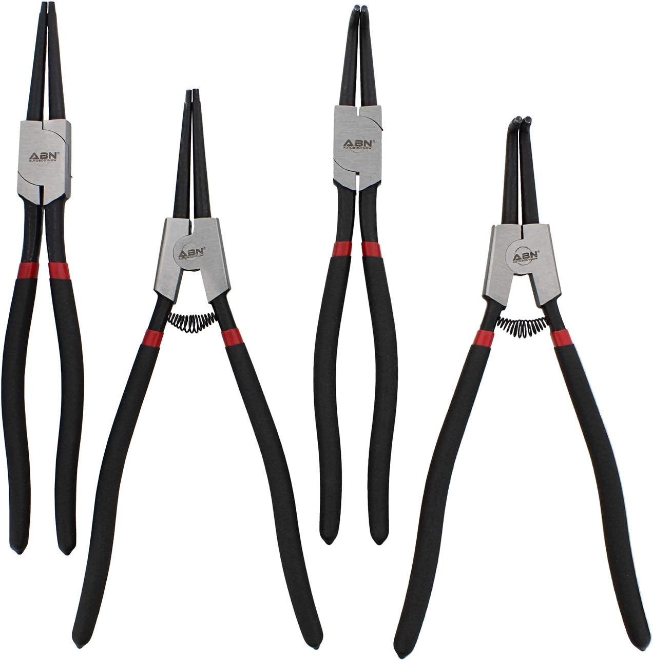 13 IN Circlip Pliers with .090 IN ABN Internal External Snap Ring Pliers Set