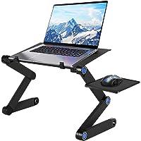 U-Kiss Stół do laptopa, składany biurko komputerowe, stojak na laptopa przenośny stół z tablicą pod mysz do łóżka…
