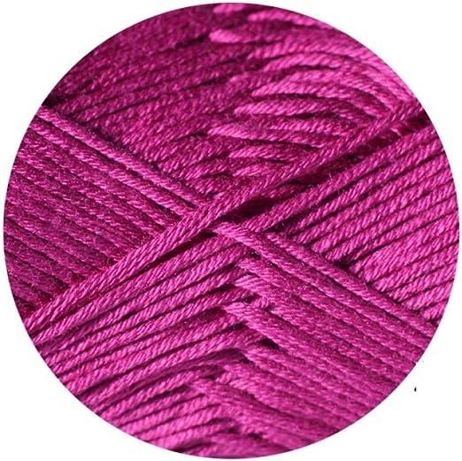 Algodón de bambú, lana de primavera y verano, blusa de ganchillo delgada y gruesa@A5: Amazon.es: Hogar
