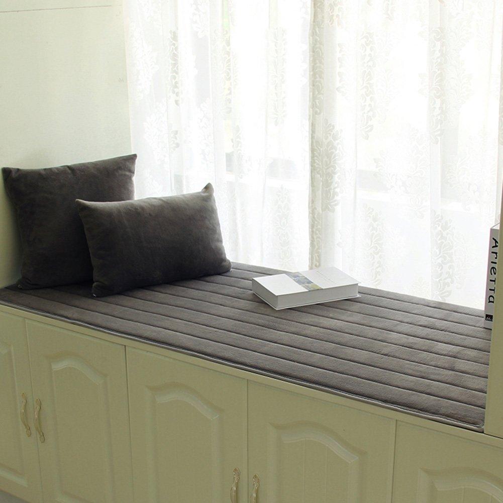 Thick Bay Window Cushion,Cover Seats sill pad,Window Bench Mat Sofa Mat Rug Bay Tatami Mats Non-Slip-A 60x150cm(24x59inch) XMDXD
