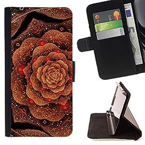 Momo Phone Case / Flip Funda de Cuero Case Cover - Motif Cuivre Bling d'or - Samsung Galaxy Note 4 IV