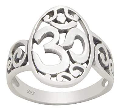 OM (AUM) and Celtic Sterling Silver Ring vvbglOG