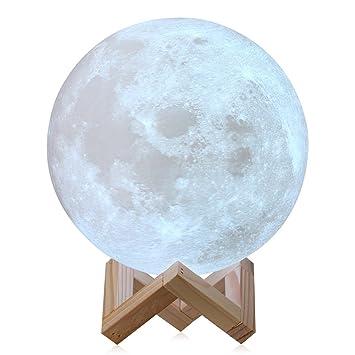 3d Luna Mond Lampe Led Beste Hauptdekorative Und Romantisches Geschenk 3d Mond Lampe Geschenk Fur Baby Kinder Freunde Auf Halloween Weihnachten Und Geburtstag By Nygy 8cm Amazon De Baby