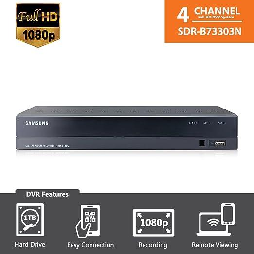SDR-B73303N (1TB) - Samsung Wisenet 4CH 1080p HD DVR FROM SDH-B73043B