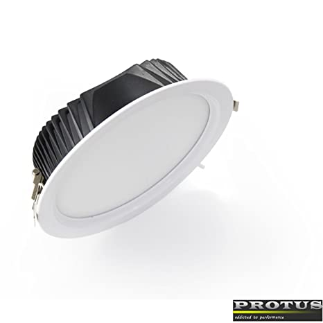 Ella LED Downlight 22 W, para einbaudurchm. 180 mm, blanco ...
