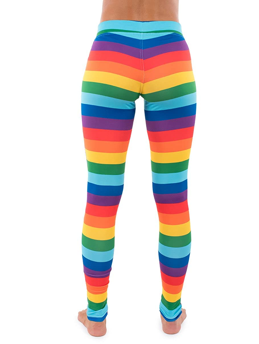ab126b4368f4a8 Striped Rainbow Leggings - Neon Rainbow Tights for Women at Amazon Women's  Clothing store: