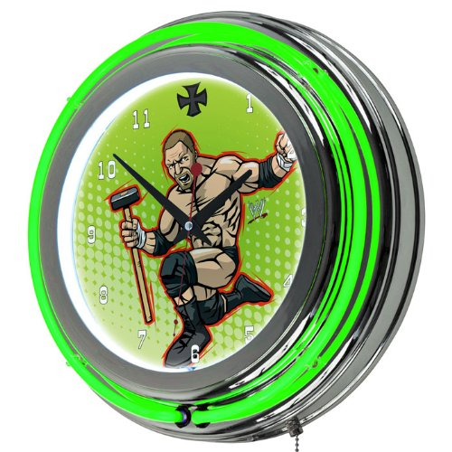 WWE Kids Triple H Chrome Double Ring Neon Clock, 14''