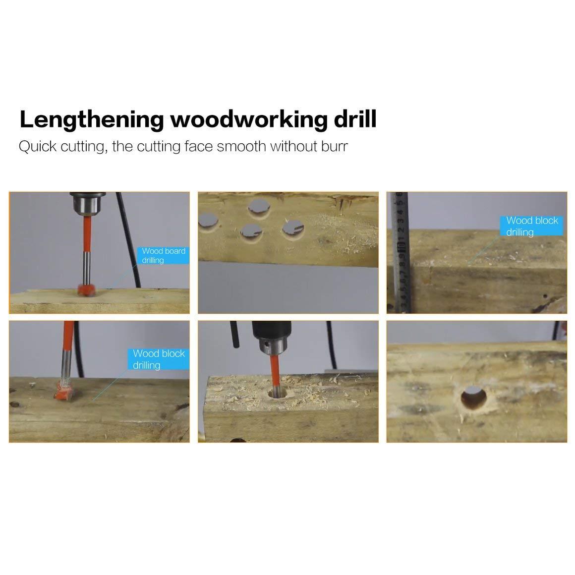 Funnyrunstore 20MM Alargamiento del abridor de madera Extienda la carpinter/ía Cerradura abierta Escariadora de pl/ástico Broca de pl/ástico Alargar Apertura del orificio de bloqueo Expansor