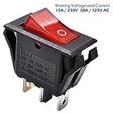 AutoEC On Off Rocker Switch, 10Pcs AC 15A/250V