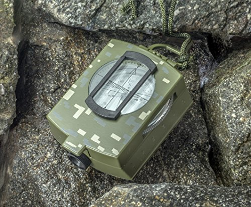 SE CC4580 Military Lensatic and Prismatic Sighting Survival Emergency Compass with Pouch by SE (Image #4)