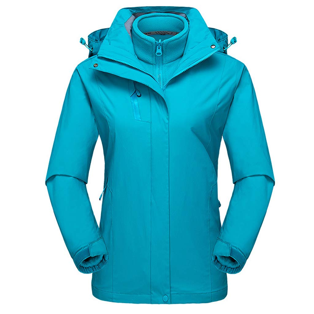 Women Hooded Ski Jacket 3 in 1 Mountain Waterproof Suit Camp Breathable Coat Liny Trading Co. Ltd