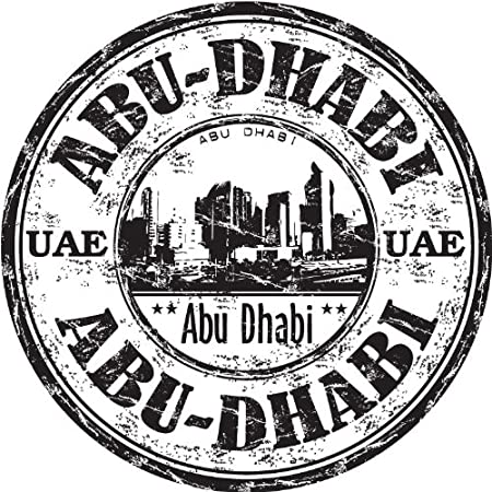 Abu dhabi united arab emirates uae city travel grunge stamp car bumper sticker decal 12 x