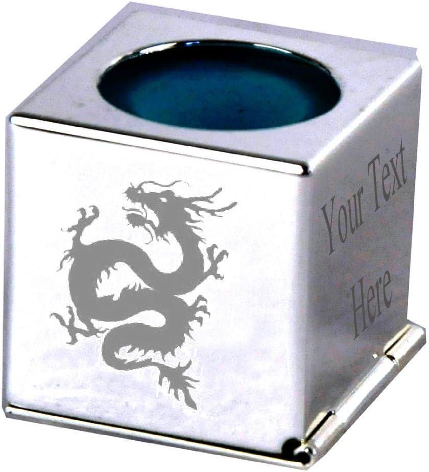Dragón chino – grabado personalizado plata Billar Tiza titular ...