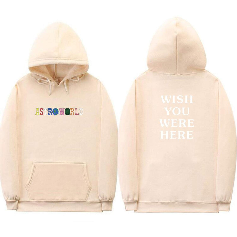 8cca0db211c9 Men Women Travis Scott Astroworld Wish You were HERE Hoodies Letter Print  Streetwear Sweatshirt at Amazon Men's Clothing store:
