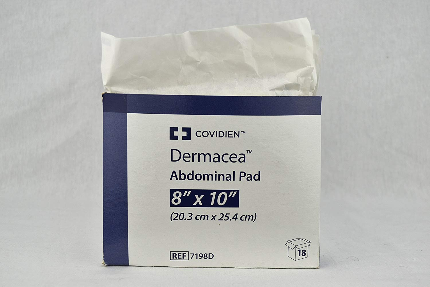 Dermacea Abdominal Pads, 8 x 10 Inch - Case of 216 by Kendall/Covidien