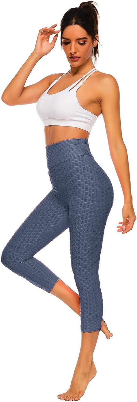 FITTOO Pantaloncini Corti 3//4 Donna Capri Sport Leggins Sportivi Ginnastica Push up Alta Elastico per Fitness Yoga