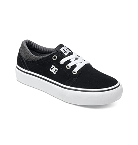 DC Shoes Trase SD - Zapatillas Bajas, para niño, Color Negro/Gris /