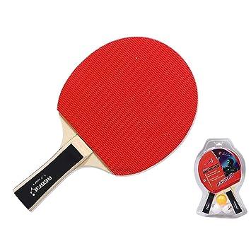 Raqueta de Tenis de Mesa Ping Pong Práctica Paddle Set 2 Bats + 2 ...