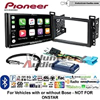Volunteer Audio Pioneer AVH-W4400NEX Double Din Radio Install Kit with Wireless Apple CarPlay, Android Auto, Bluetooth Fits 2004-2007 Chevrolet Malibu, 2005-2009 Pontiac G6 (With Bose)