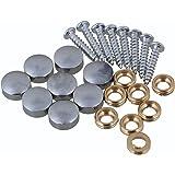 10 mm de plata decoración decorativa para el hogar guardarropas muebles accesorios mesa espejo tornillo tapón clavos paquete de 8