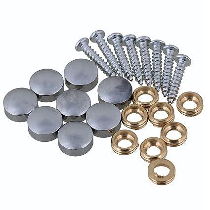 10 mm de plata decoración decorativa para el hogar guardarropas muebles accesorios mesa espejo tornillo tapón