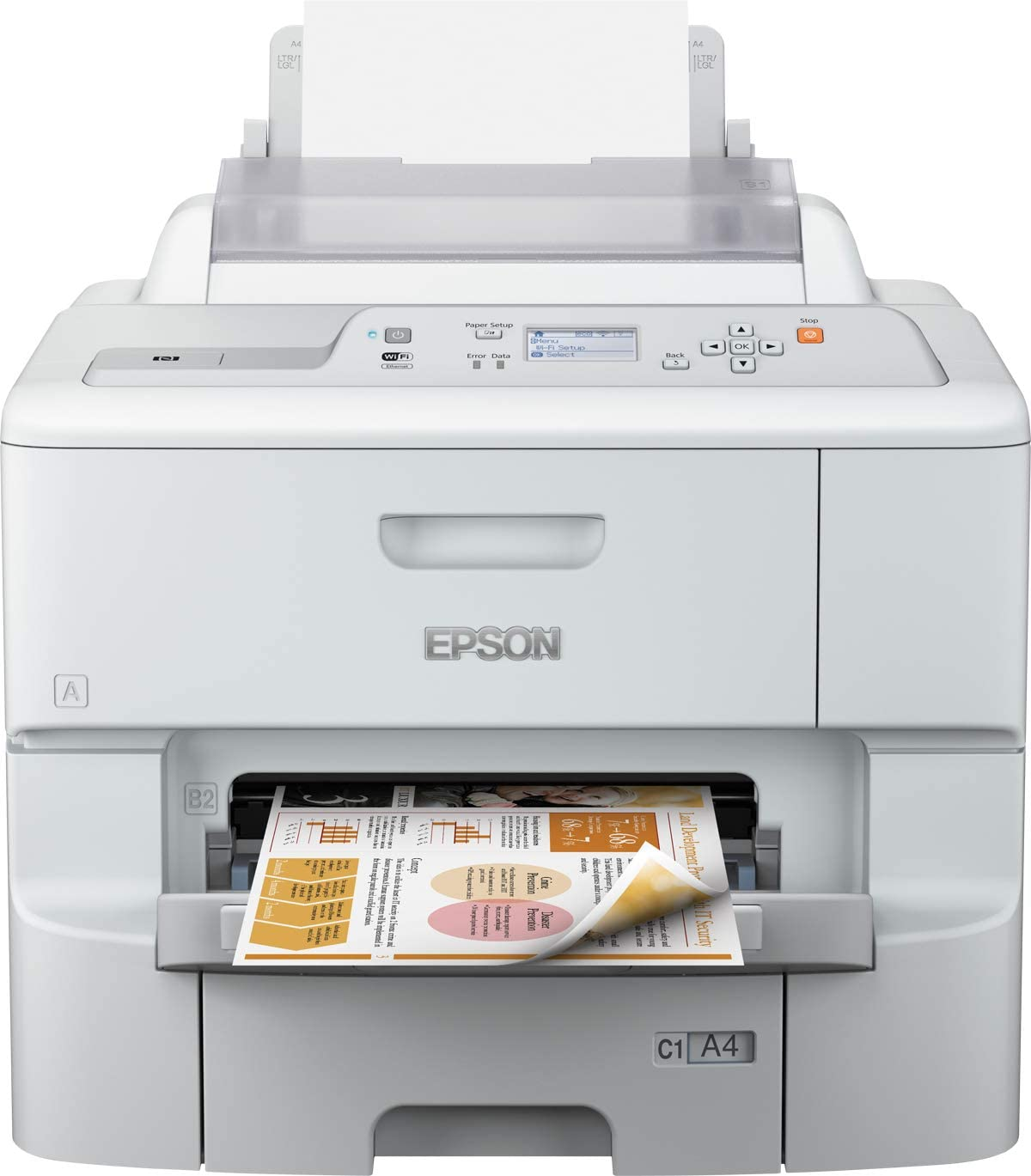 Epson WorkForce Pro WF-6090DTWC - Impresora de tinta (65000 ...