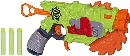 Blaster Toy Zombie Brainsaw Saw Foam Darts Spinning Strike Nerf Blade Kids Gun