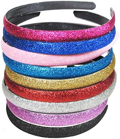 HipGirl Girls / Women Grosgrain Ribbon or Satin Fabric Wrapped Headbands