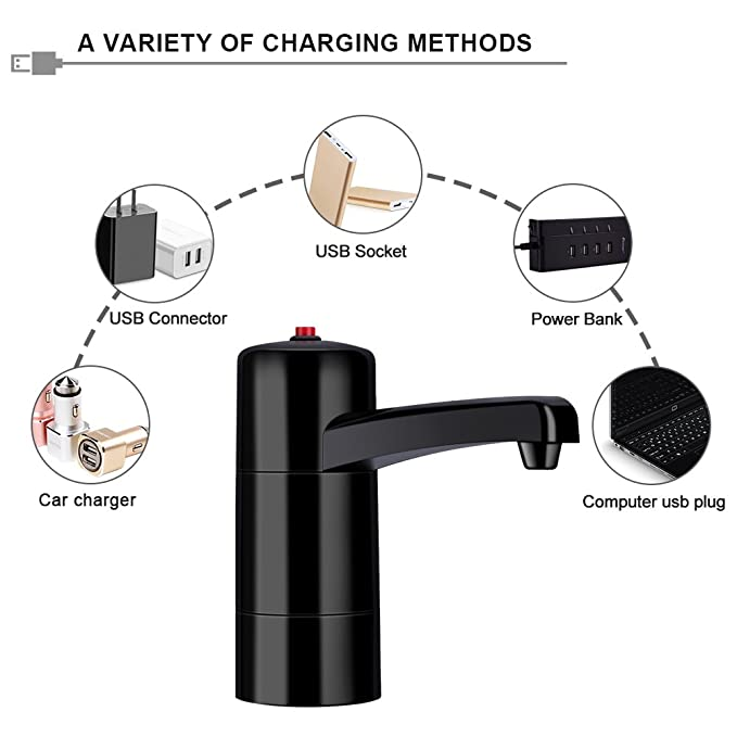 Amazon.com: Yosoo Water Pump Dispenser Handy Rechargeable USB Electric Dispenser Suction Universal Water Supply Device for Home Office Bottle: Home & ...