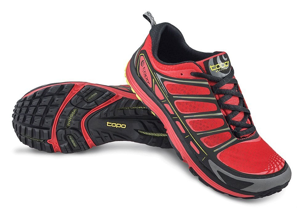 TOPO Men's Runventure Trail Running Shoes B00TQ6LHDI 11.5 D(M) US|Red/Black