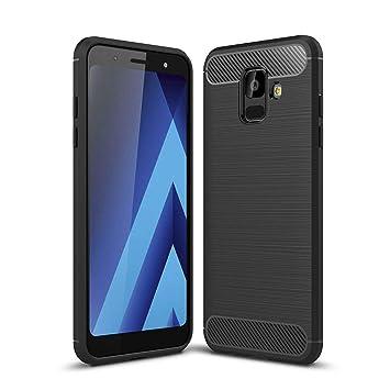Acelive Funda Samsung Galaxy A6, Funda Blanda a Prueba de Golpes Funda de Silicona TPU Funda para Teléfono Inteligente Samsung Galaxy A6 2018 (negro)