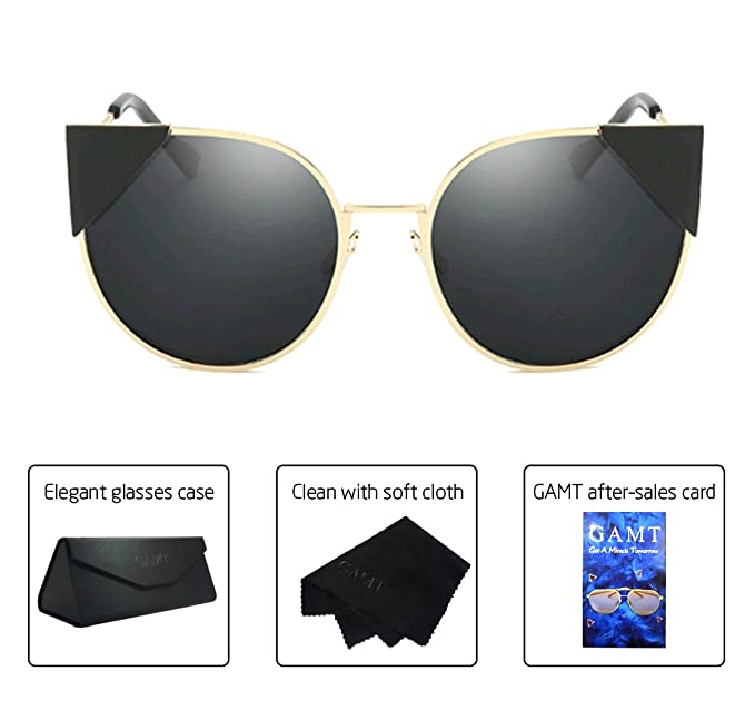 Amazon.com: GAMT Cat Eye Polarized Sunglasses for Women Metal Frame ...
