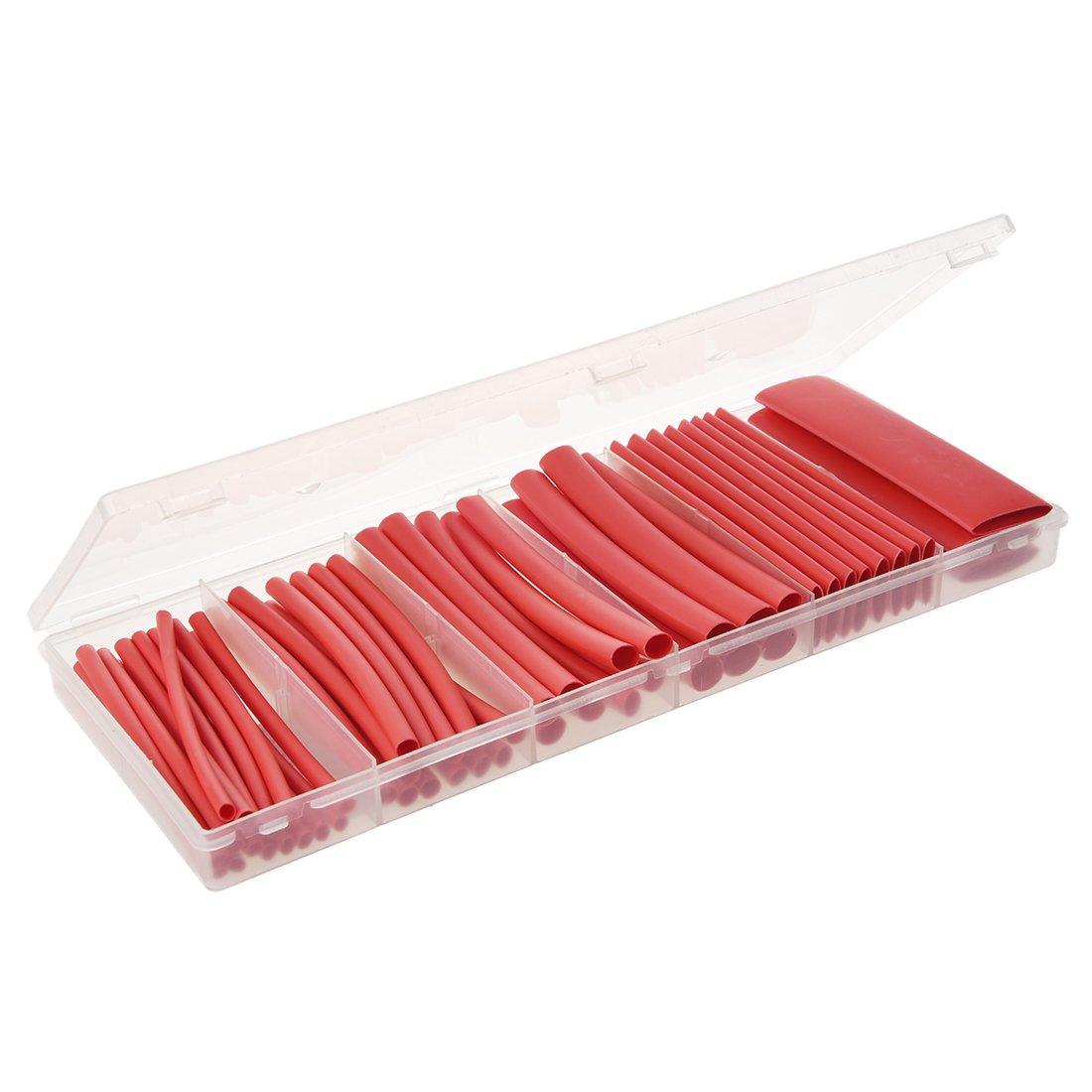 SODIAL 53PCS Red Heat Shrink Adhesive glue lined Tube 3:1 Heatshrink Tubing wrap wire R Heat Shrink Tubing