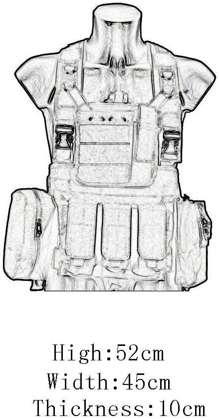 Veste Tactique Garde De S/écurit/é Gilets Militaires sur Le Terrain Gilet R/églable Respirant /étanche pour LExt/érieur