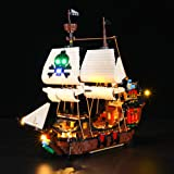 BRIKSMAX Led Lighting Kit for Pirate Ship - Compatible with Lego 31109 Building Blocks Model- Not Include The Lego Set