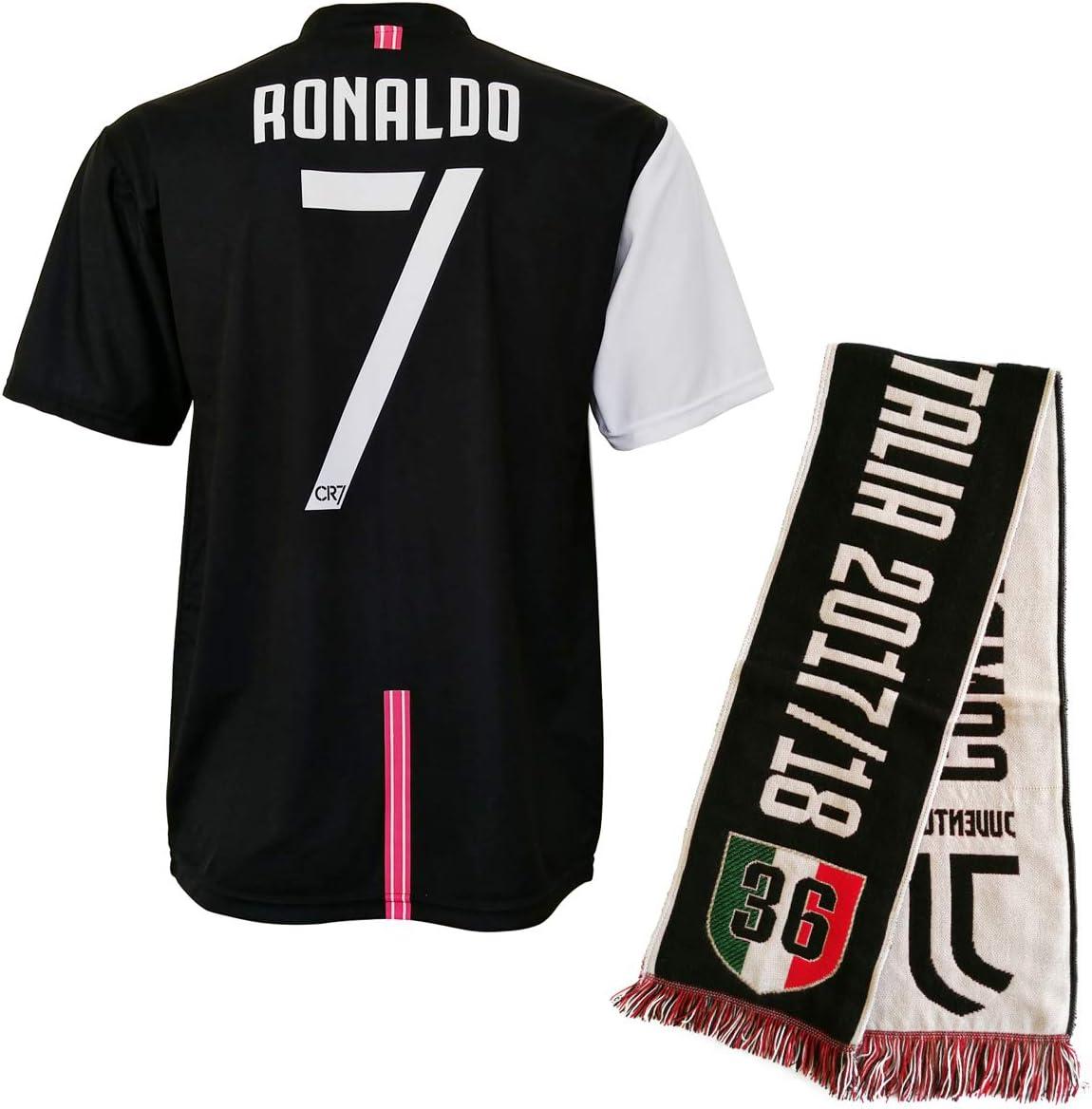 CR7 MUSEU Camiseta Cristiano Ronaldo 7 Oficial Autorizada 2019-2020 Niño (Edad 2 4 6 8 10 12) Adulto (S M L XL) con Firma Impresa Limited Edition - Leer Notas + Bufanda Escudo, 8-9 años: Amazon.es: Deportes y aire libre