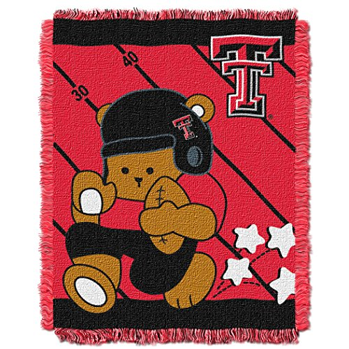 The Northwest Company Officially Licensed NCAA Texas Tech Red Raiders Fullback Woven Jacquard Baby Throw Blanket, 36