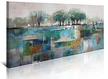 Green Abstract Canvas Art