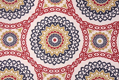Discount Fabric Richloom Upholstery Drapery Olympus Jewel Navy Medallion RL108