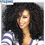 Synthetic Wigs Black Natural Colour Heat Resistant Kinky...