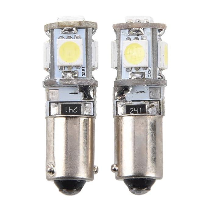 Luz de estacionamiento de coche - SODIAL(R) 2X Canbus 5 SMD LED bombilla