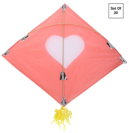 Let There Be Lights And Kites Again >> Buy Yamuna Patang Kite Set Of 20 Light Pink Online At Low Prices