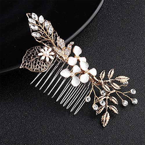 Classic Black Gold Color Bride Bridesmaid Wedding Gift Comb Hair Fork Hair Accessories Jewelry Women Girls Flower Crown Tiara Diadem