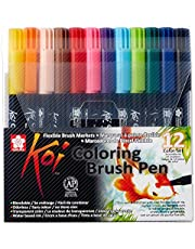 Sakura Koi Coloring Brush Pens 12-delige set, 12 penseelstiften in etui