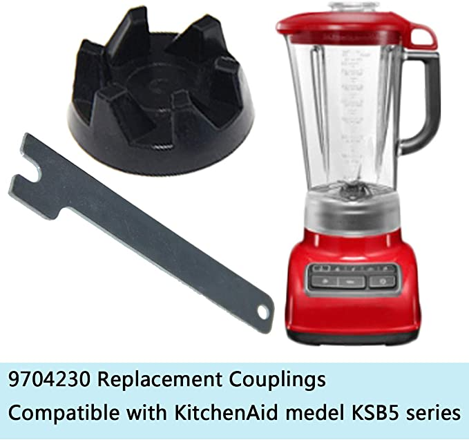 ACAMPTAR 6 Packungen 9704230 Mixer Coupler Mixer Coupling Ersatzteile mit 1 Schraubenschl/üSsel Kompatibel f/ür K/üChenhelfer WP9704230VP WP9704230