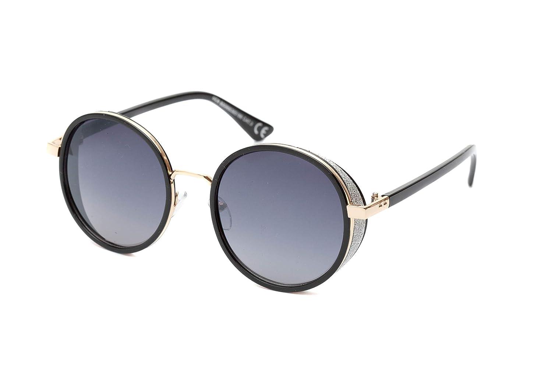 9ec15b9aff Gafas de Sol Retro con Marco Grueso Redondo para Hombre y Mujer Estilo  Vintage con Protección UV400 (Lente Negro Degradado): Amazon.es: Hogar