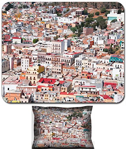 Luxlady Mouse Wrist Rest and Small Mousepad Set, 2pc Wrist Support design IMAGE: 20636380 Zacatecas colorful town in Mexico